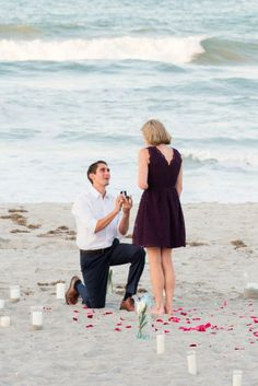 A Perfect Beach Proposal by Liz Cowie Photography - Melissa Hearts Weddings