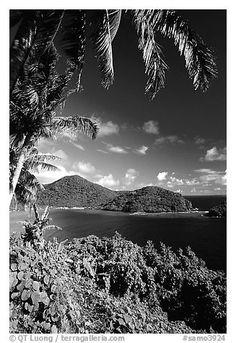 View over Masefau Bay. Tutuila, American Samoa