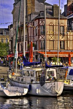 Honfleur Port, Normandy, France, one of the prettiest harbours on the northern coastline.