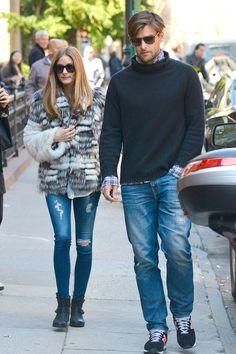 Olivia Palermo AG Ankle Leggings in 7 Years Break Me Down