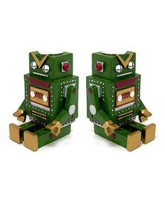 Take a look at this Green Robot Bookend - Set of Two by Concepts on #zulily today!