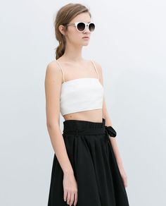 Image 4 of SEAMED BANDEAU TOP from Zara