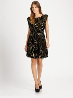 Alice + Olivia Black Hope Blouson Dress