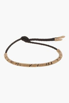 Luis Morais Black & Yellow Gold Uber String Bracelet for men | SSENSE