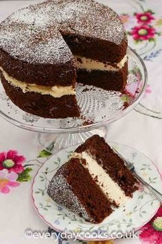 An everyday chocolate cake. Quick and easy to make with the all-in-one method. Ideal base for a birthday cake. #chocolatecake