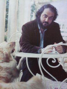 STANLEY and LOLA. Notice that Kubrick wore a watch on both wrist. One on England time and one on US time.