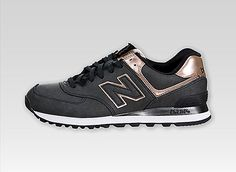 New Balance Women 574 (Precious Metals) charcoal/copper.