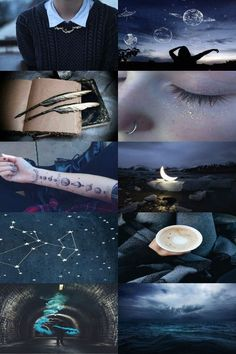 From the Sea to the Stars Witch Aesthetic, Aesthetic Collage, Blue Aesthetic, Ravenclaw, Hogwarts, Constellations, Moon Child, Collages, Aesthetic Wallpapers
