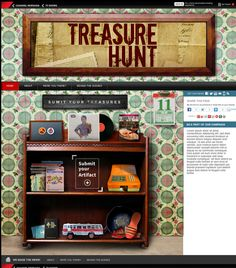 Our designer created this artwork for Channel News Asia's Tv program Treasure hunt. Look at the individual element the designer painstakingly collected with the client!