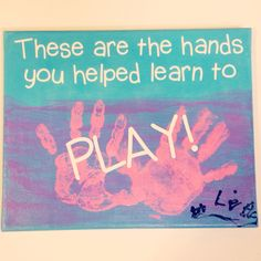 """Occupational Therapist gift -""""These are the hands you helped learn to play!"""" OT gift"""