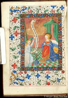 Book of Hours, MS H.4 fol. 7v - Images from Medieval and Renaissance Manuscripts - The Morgan Library & Museum