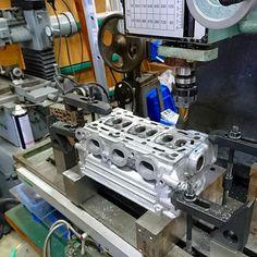 軽四のエンジンブロックをフライス加工、面研|趣味工作の便利屋:あなたの困っているものづくり・試作を応援します