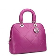 Purple High Fashion Real leather tote bag