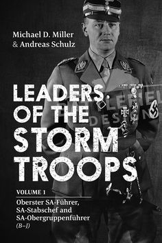 Book cover design - Leaders of the Storm Troops, Helion Books