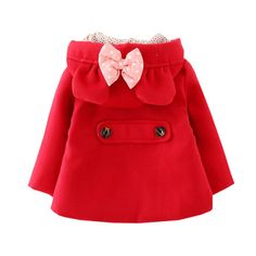 (26.82$)  Watch more here - http://ai3eq.worlditems.win/all/product.php?id=32575430468 - Baby Girls Outerwear Coats Children Fashion double-breasted Woolen Trench Spring and Autumn Hooded Jacket Warm Cotton Clothes