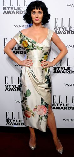 Katy perry with curly bob haircut - short and mid length hairstyle ideas - celebrity hair trend - www.handbag.com