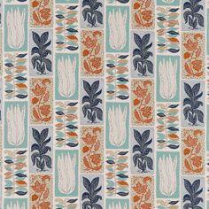 Sanderson Seaweed Teal/Orange Curtain Fabric - : Gordon Smith Ltd, Cookware, Tableware, Linens Soft Furnishings at Malvern's Department Store Modern Wallpaper, Fabric Wallpaper, Fabric Design, Pattern Design, Orange Curtains, Sanderson Fabric, Teal Orange, Blue Yellow, Liberty Fabric
