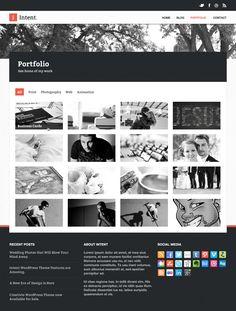 Intent Creative PSD Theme Portfolio Page | Best PSD Freebies
