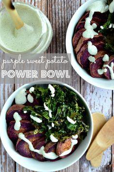 Purple Sweet Potato Power Bowl | blissfulbasil.com
