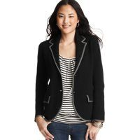 $79.50 Cotton Tipped Sweater Blazer