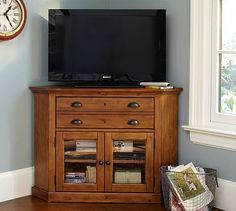 Shelby Corner Media Console #potterybarn