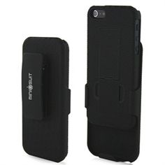 Minisuit Clipster Kick Stand Case   Belt Clip for iPhone 5C 2013 (Black)