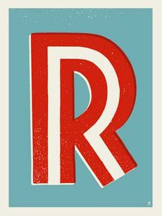 Letter R screen print by Robert Lee