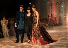 Ritesh Deshmukh and Genelia D'Souza with designer, Neeta Lulla