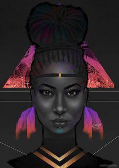 artwork, black art, and digital art image