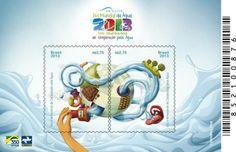 Bloco da Emissão especial: Ano Internacional de Cooperação pela Água Artista: Leandro Lima Data: 22 de Março de 2013