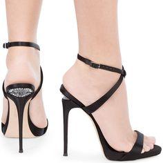 Giuseppe Zanotti 'Dionne' Sandal with Crystals and Sculpted Heel #giuseppezanottiheelsstilettos #giuseppezanottiheelsoutfit