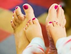 How cute is this?! (Mom & baby feet with painted toes.)