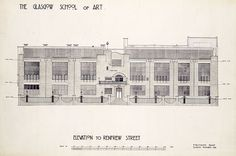 Glasgow School of Art - Elevation - Charles Rennie Mackintosh