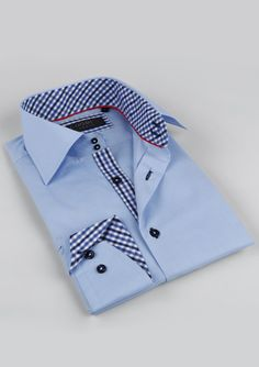 Love this Coogi shirt for men. Classic, yet with modern detail touches.