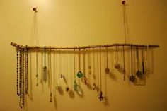 Master Closet - Use a branch or branches along the top of one wall for jewllery?