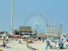 It's a great day to play at the beach and ride the ferris wheel overlooking the Atlantic Ocean...then going to the restaurant for an awesome atlantic Ocean, fresh fish meal ;)
