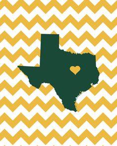 Baylor University - Sic em Bears - Texas State Print Art Print