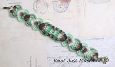 Ombre Shaded Beaded Micro Macrame Bracelet with Jade Green
