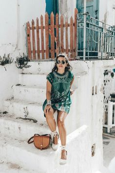 27 Super ideas for fashion summer street collage vintage Espadrilles Outfit, Hot Weather Outfits, Summer Outfits, Summer Dresses, Vintage Collage, Boho Outfits, Casual Outfits, Greece Outfit, Wedges