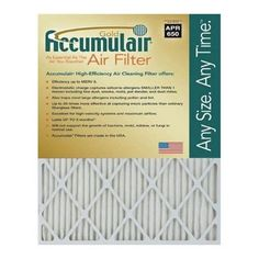 Accumulair FB12X26.5A Gold 1 In. Filter (Pack of 4), As Shown