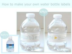 Free water bottle label template create your own water bottle how to make water bottle labels maxwellsz