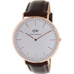 Daniel Wellington Men's Bristol 0109DW Brown Leather Quartz Watch
