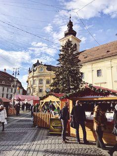 Christmas market in Sibiu, Romania Sibiu Romania, Street View, Places, Christmas, Xmas, Weihnachten, Yule, Jul, Natal