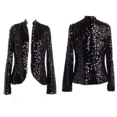 "London Jean Black Sequin Blazer Like new, beautiful black sequin jacket from London Jeans.  Size 6. Bust 32"", waist 30"", sleeve length 25"", shoulder length 15"", length 25"".  Slit detail on the back.  Great jacket for NYE!  London Jean Jackets & Coats Blazers"