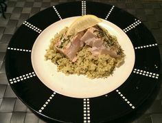 Lemon dill mahi mahi with lemon spinach couscous. Very simple, easy and tastes great!