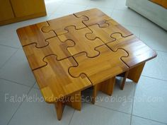 Puzzle table instructions