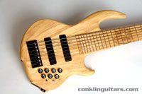 Conklin Custom 7 String Bass the Sidewinder Primavera Wood