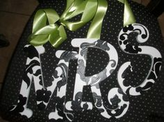 damask painted letters