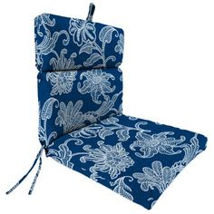 Jordan Manufacturing Outdoor Patio Chair Cushion Blue Products