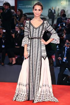 Alicia Vikander in Louis Vuitton From the eyelet detailing, fluttery sleeves and sweeping skirt, Alicia's look took on a literal interpretation of romantic bohemi